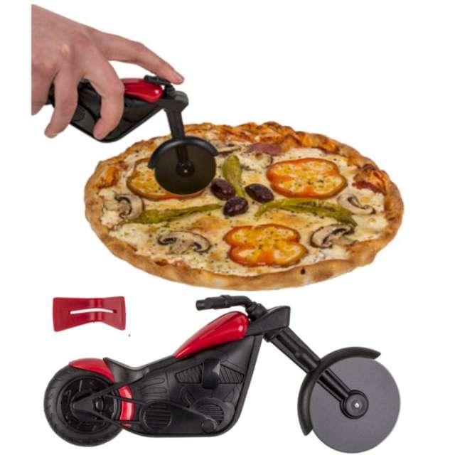 Nóż do pizzy Szybki motor czarno-czerwony Kemiś 22 cm