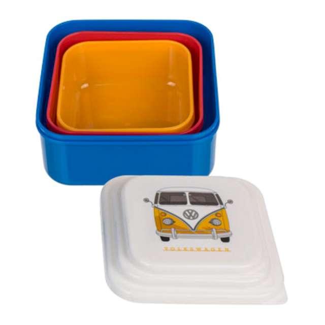 Pudełko na lunch VWT1 Bus mix Kemiś 3 szt