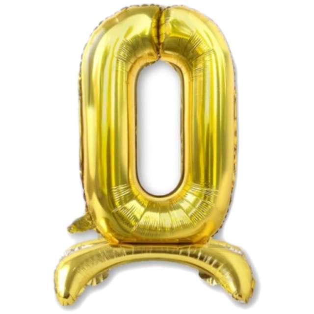 Balon foliowy Cyfra 0 stojąca złota DekoracjePolska 30 SHP