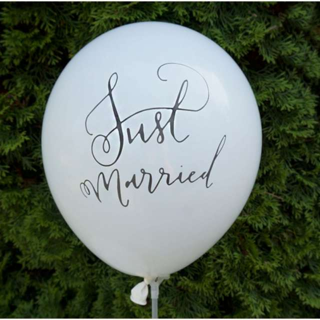 Balony Just Married białe Dekoracje Polska 12 5 szt