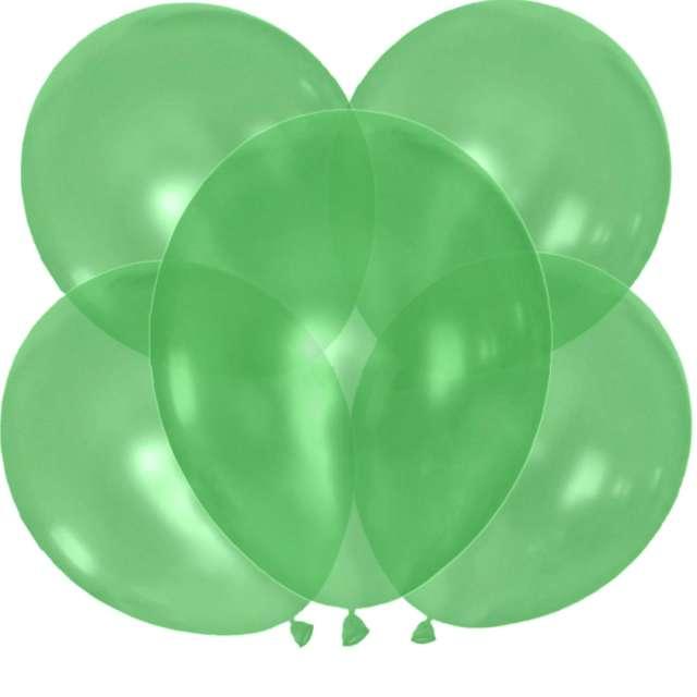 """Balony """"Crystal"""", zielone, Dekoracje Polska, 12"""", 5 szt"""