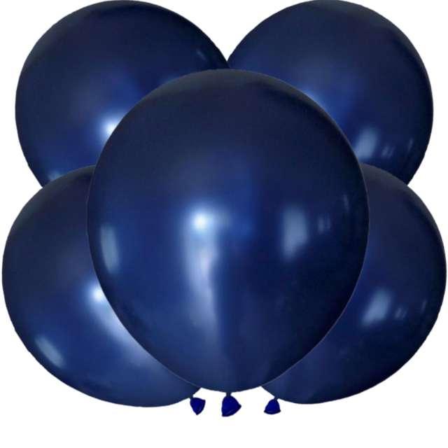 Balony Metalic granatowe Dekoracje Polska 12 5 szt