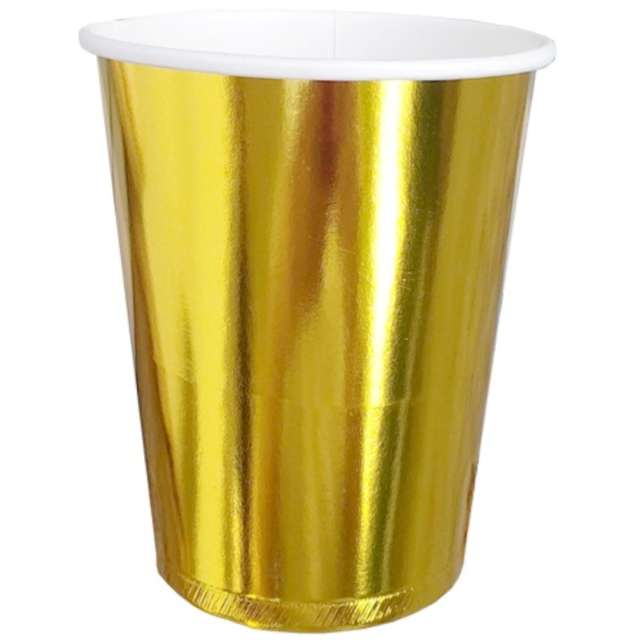 """Kubeczki papierowe """"Classic"""", złote, DekoracjePolska, 255 ml, 10 szt"""