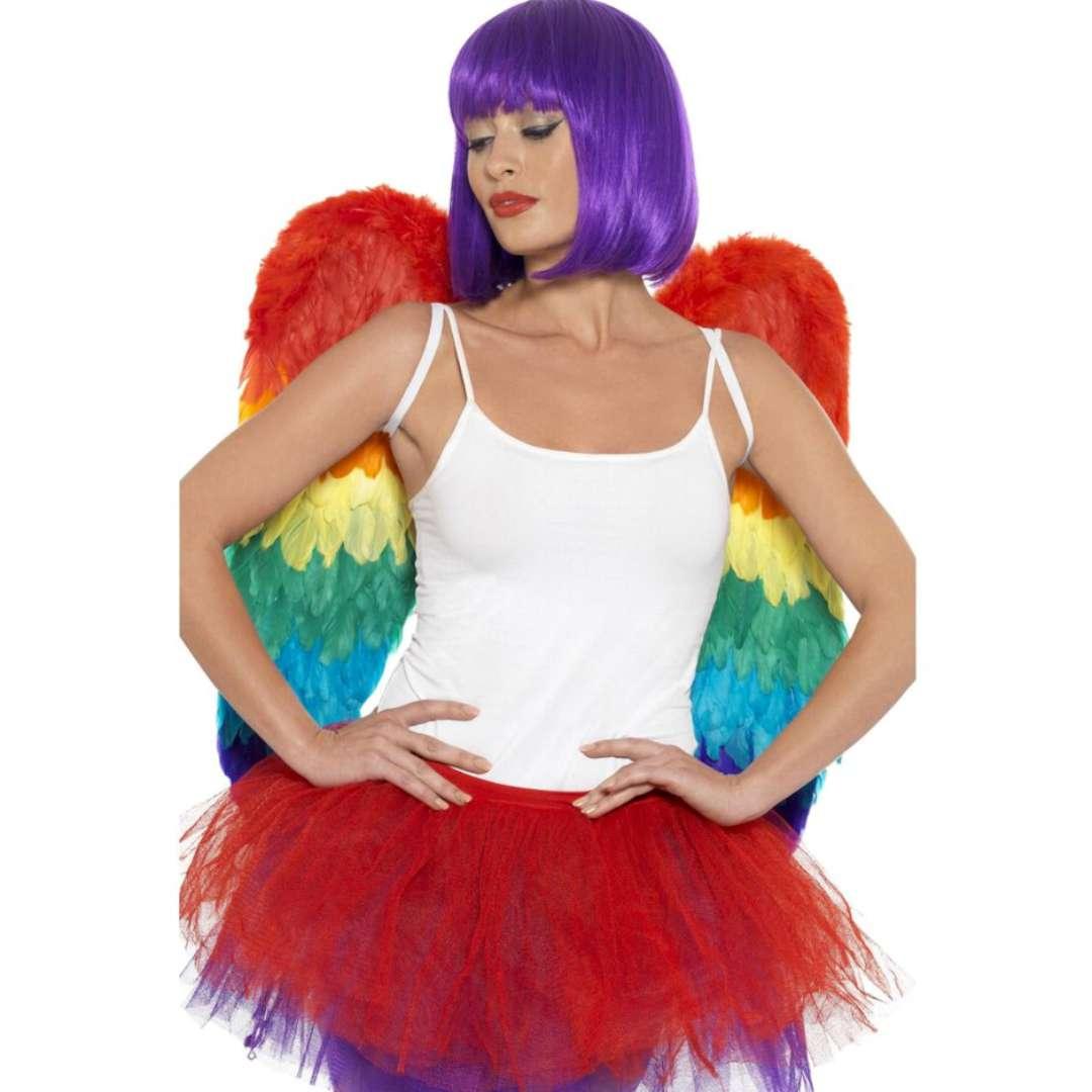 Skrzydła anioła Rainbow tęczowe Smiffys 60 x 60 cm