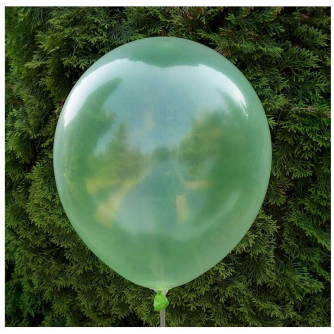 Balony Crystal zielone Dekoracje Polska 12 5 szt