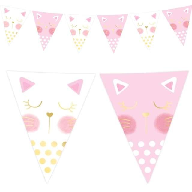 """Baner flagi """"Kotek"""", różowe, Godan, 200 cm"""
