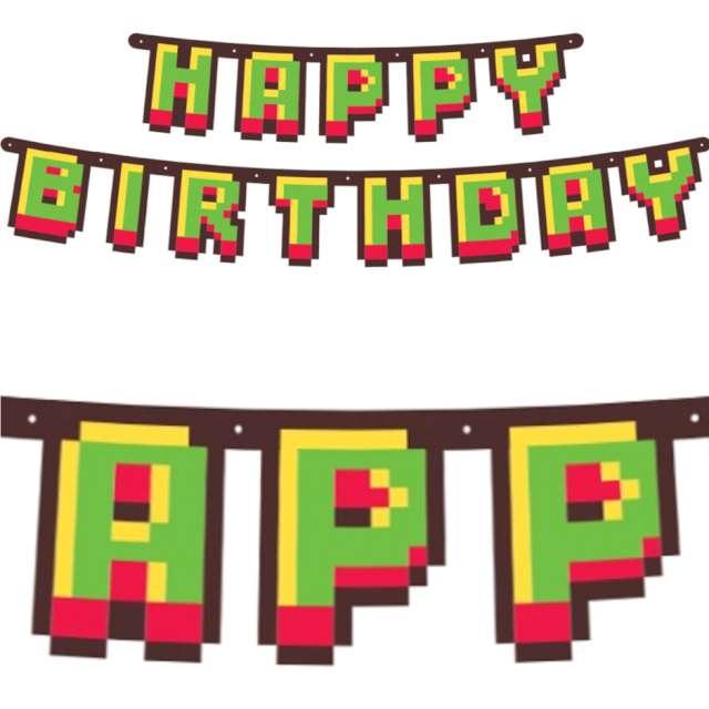 """Baner """"Gaming Party - Happy Birthday"""", GoDan, 160 cm"""