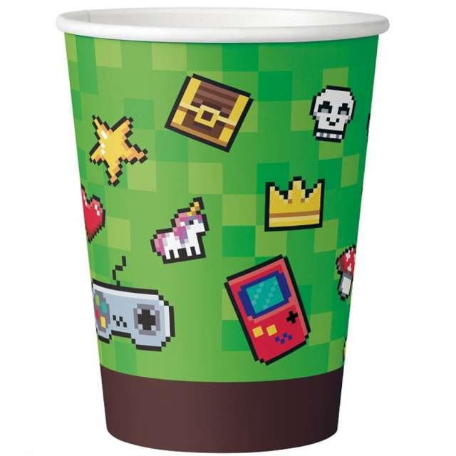 """Kubeczki papierowe """"Gaming Party"""", GoDan, 200 ml, 6 szt"""