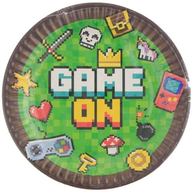 Talerzyki papierowe Gaming Party Godan 18 cm 6 szt