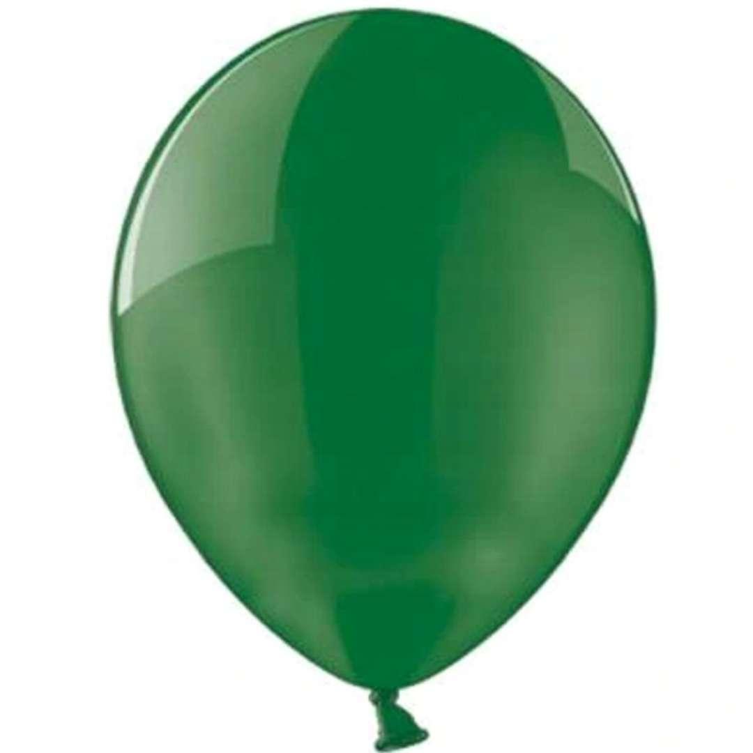 """Balony 10"""" Crystal BELBAL Green 100 szt"""