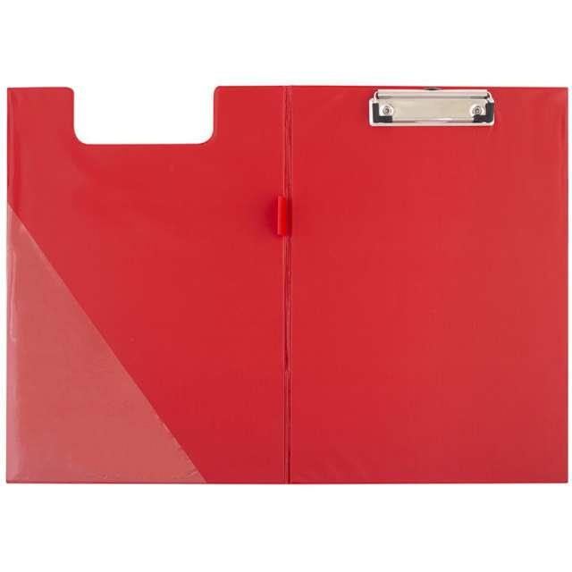 Clipboard Podkładka A4 z klipem zamykana czerwona D.RECT