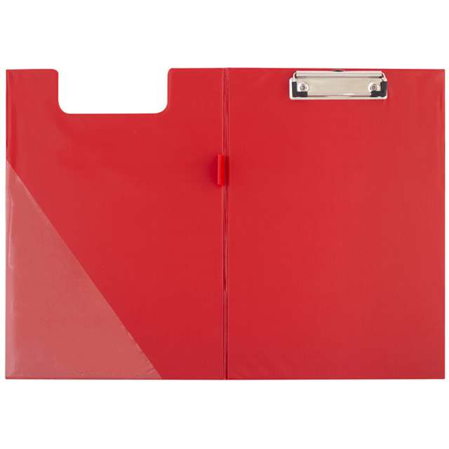 Clipboard Podkładka A5 z klipem zamykana czerwona D.RECT