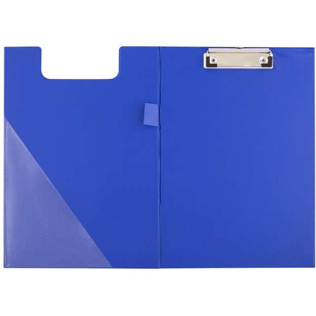 Clipboard Podkładka A5 z klipem zamykana niebieska D.RECT
