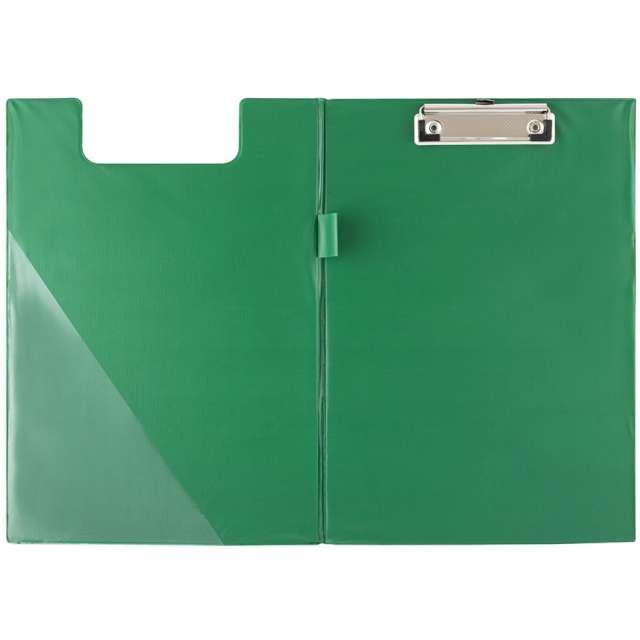 Clipboard Podkładka A5 z klipem zamykana zielona D.RECT
