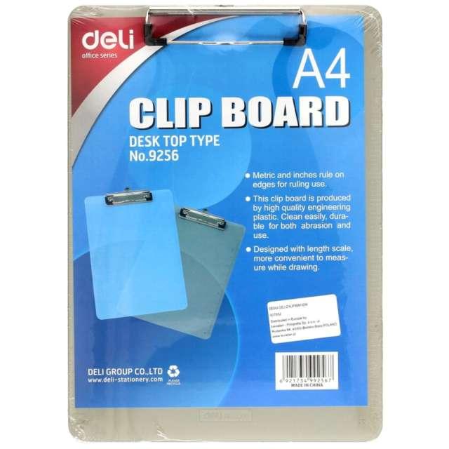 Clipboard Podkładka A4 z klipem dymna DELI 9256