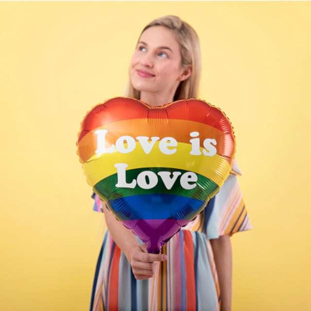 Balon foliowy Serce - Love is Love kolorowy PartyDeco 14 HRT