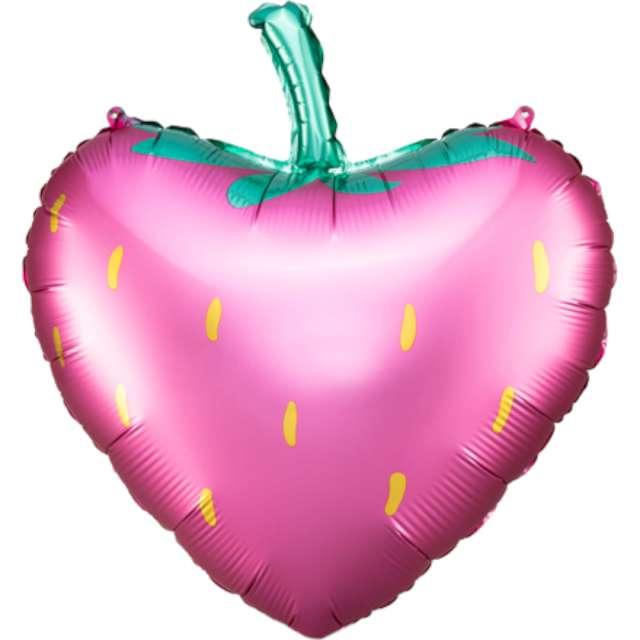 Balon foliowy Truskawka różowy PartyDeco 17 HRT