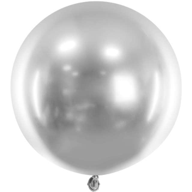 Balon Glossy XL srebrny Partydeco 24