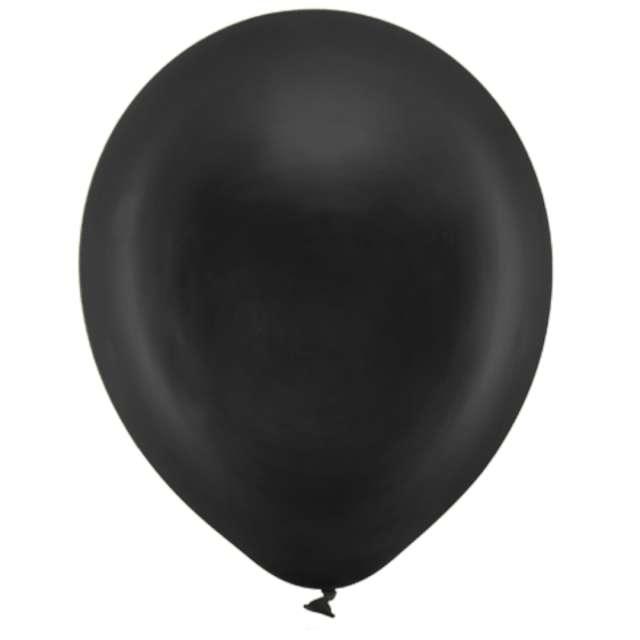 Balony Rainbow - Metalizowane czarne PartyDeco 9 10szt