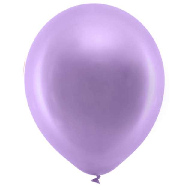 Balony Rainbow - Metalizowane fioletowe PartyDeco 9 10szt