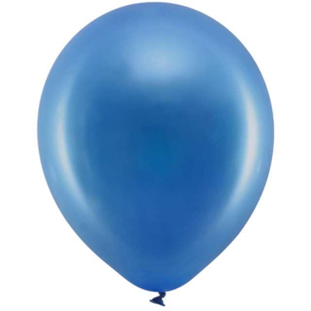 Balony Rainbow - Metalizowane granatowe PartyDeco 9 10szt