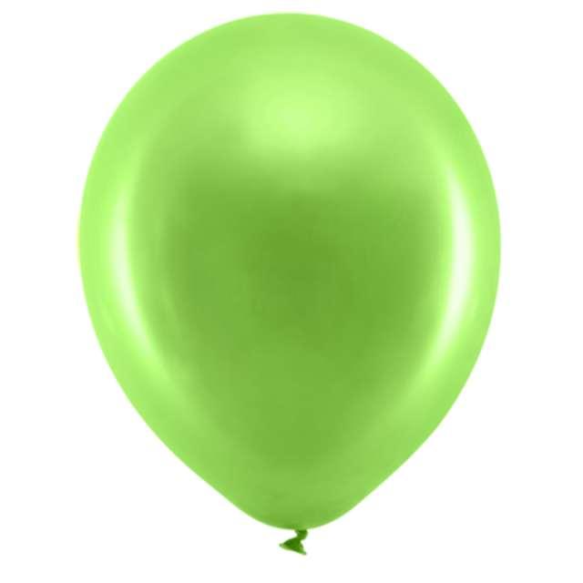 Balony Rainbow - Metalizowane zielone jasne 9 10szt