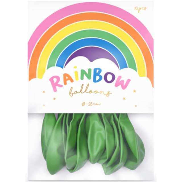 Balony Rainbow - Metalizowane zielone jasne 9 10 szt