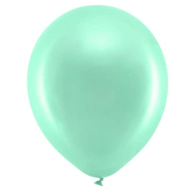 Balony Rainbow - Metalizowane miętowe PartyDeco 9 10szt