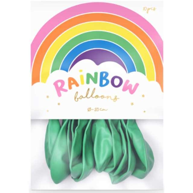 Balony Rainbow - Metalizowane miętowe PartyDeco 9 10 szt