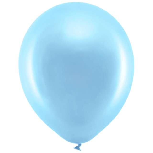 Balony Rainbow - Metalizowane niebieskie PartyDeco 9 10szt