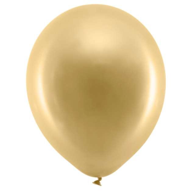 Balony Rainbow - Metalizowane złoty 9 PartyDeco 10 szt