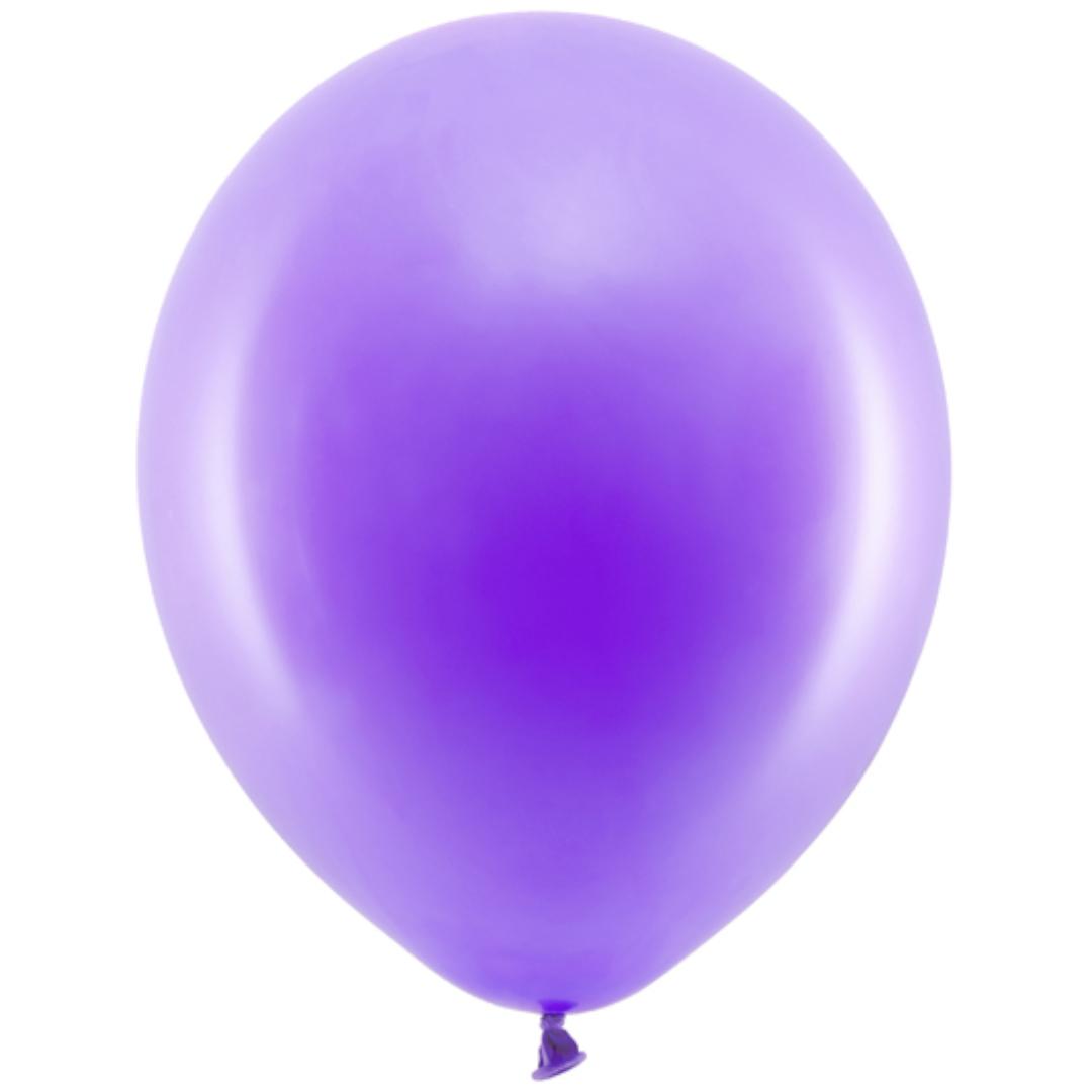 Balony Rainbow - Pastelowe fioletowe 11 10 szt