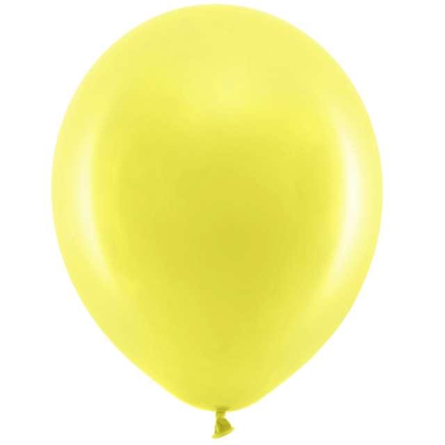Balony Rainbow - Pastelowe żółty PartyDeco 11 10szt