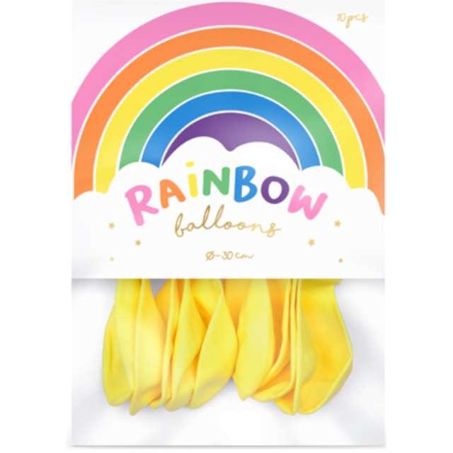 Balony Rainbow - Pastelowe żółty PartyDeco 11 10 szt