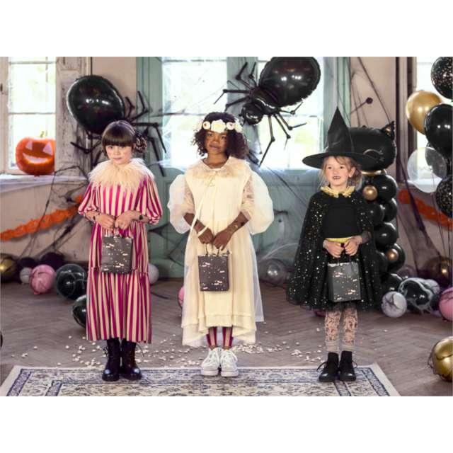 Strój dla dzieci Peleryna z gwiazdkami czarna PartyDeco
