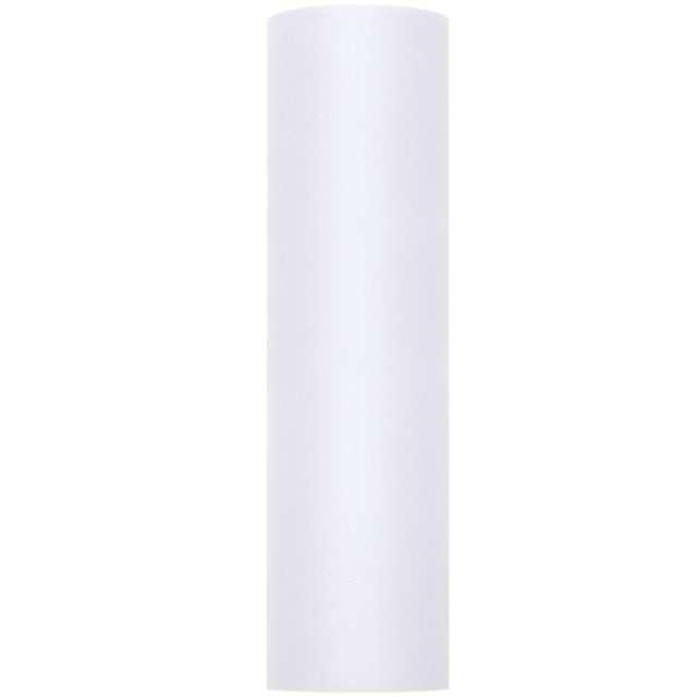 Tiul gładki biały sztywny PartyDeco 03 x 50 m