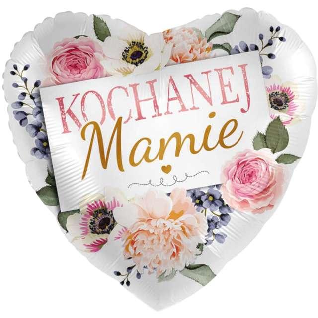 """Balon foliowy """"Kochanej Mamie - różane serce"""", Amscan, 17"""", HRT"""