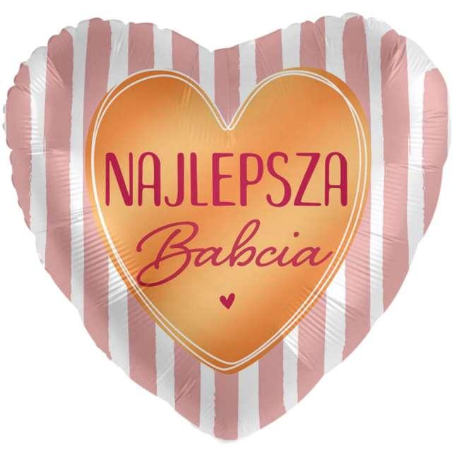"Balon foliowy ""Najlepsza Babcia - serce"", mix, Amscan, 17"", HRT"
