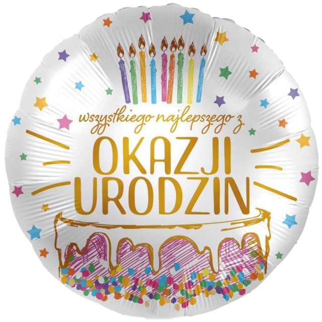 Balon foliowy Wszystkiego Najlepszego z okazji Urodzin Amscan 17 RND
