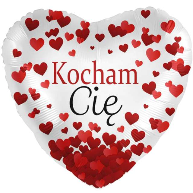Balon foliowy Kocham Cię - serce czerwony Amscan 17 HRT