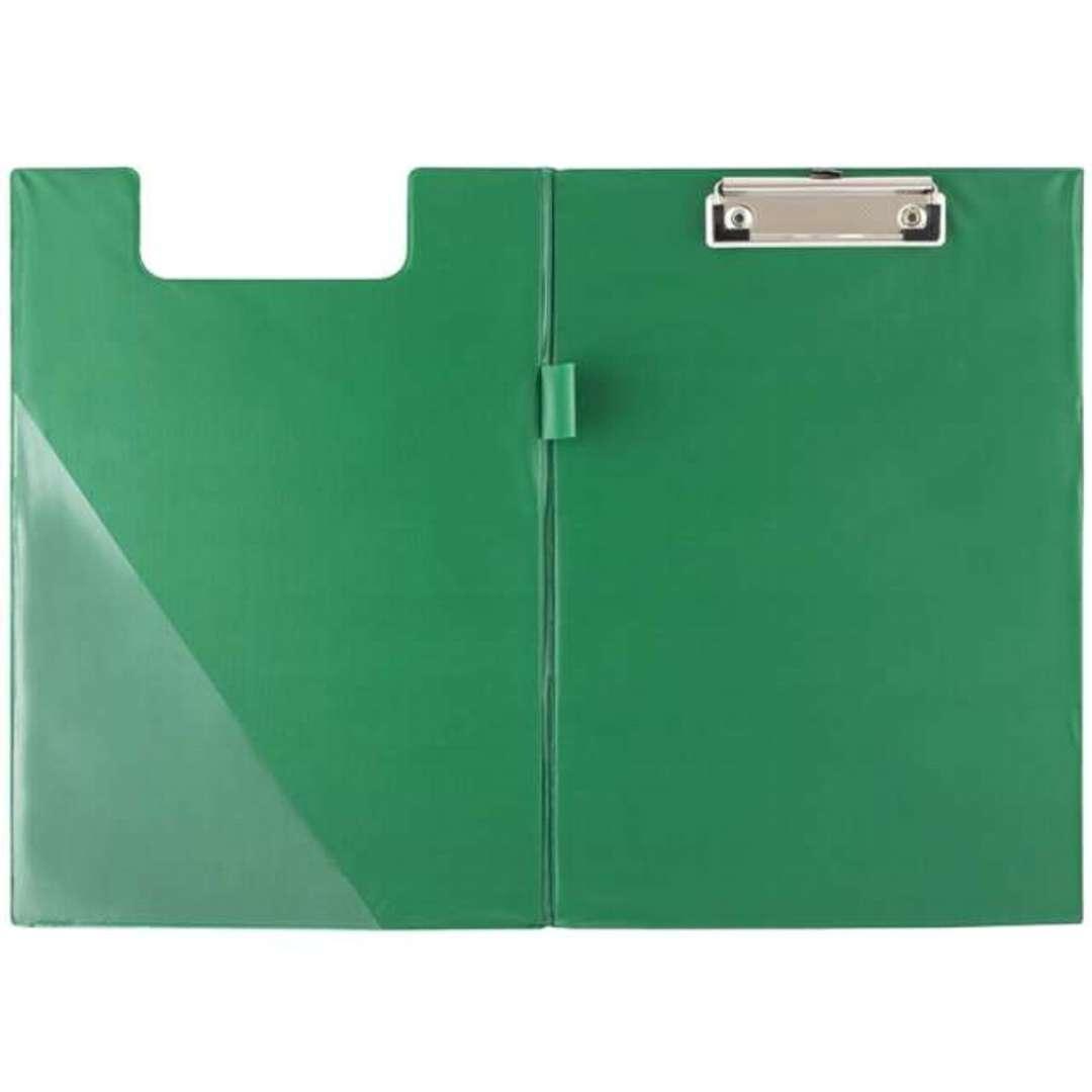 Clipboard Podkładka A4 z klipem zamykana zielona D.RECT
