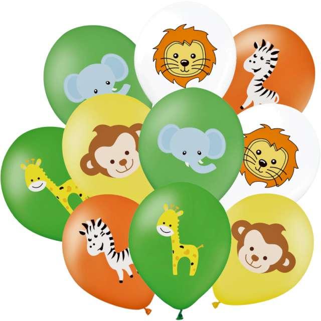 "Balony ""Safari - Zwierzęta"", mix, PartyPal, 12"", 10 szt"