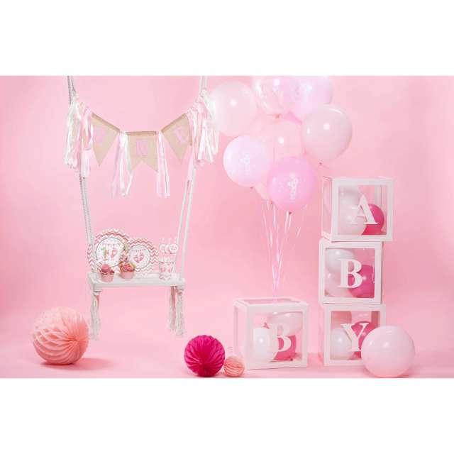 Baner 1 Urodziny - One różowe wstążeczki PartyPal
