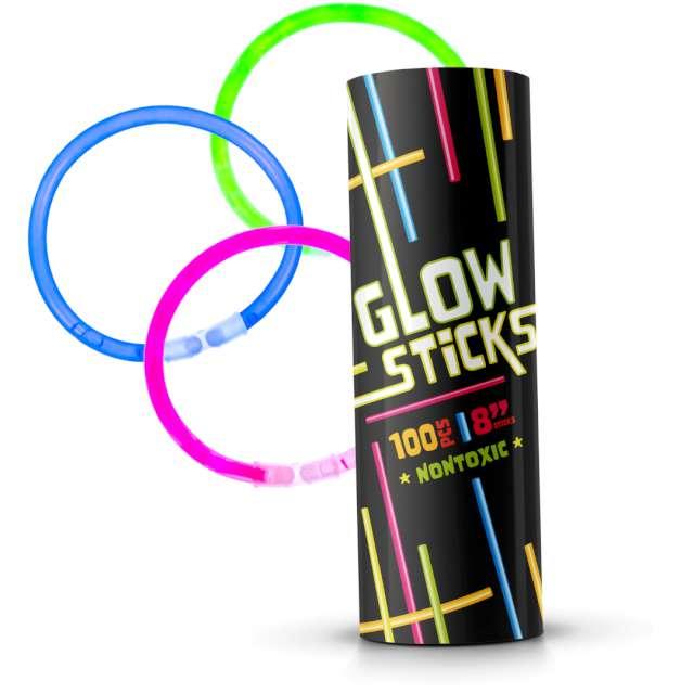 Świecące bransoletki Glow PartyPal 21 cm 100 szt