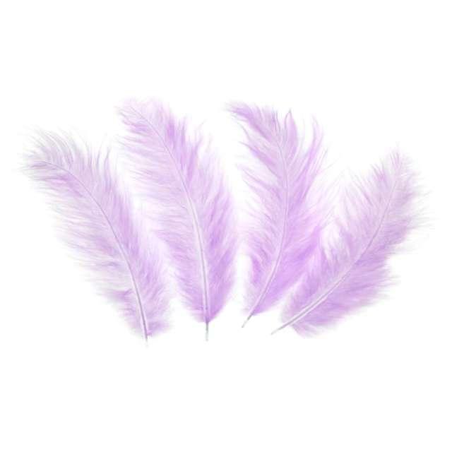 Piórka dekoracyjne Długie fioletowe PartyPal 10-15 cm 50 szt