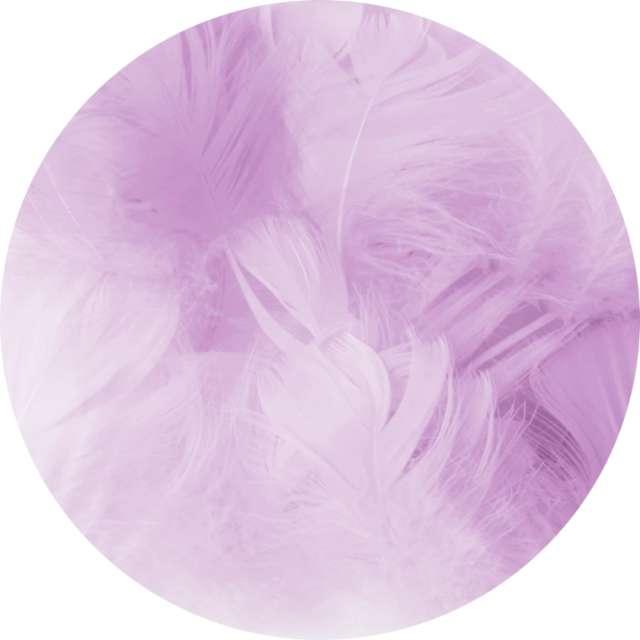 """Piórka dekoracyjne """"Krótkie"""", fioletowe, PartyPal, 5-8 cm, 50 szt"""