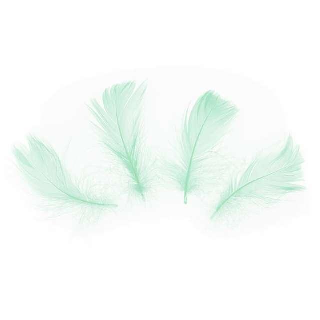 Piórka dekoracyjne Krótkie zielone PartyPal 5-8 cm 50 szt