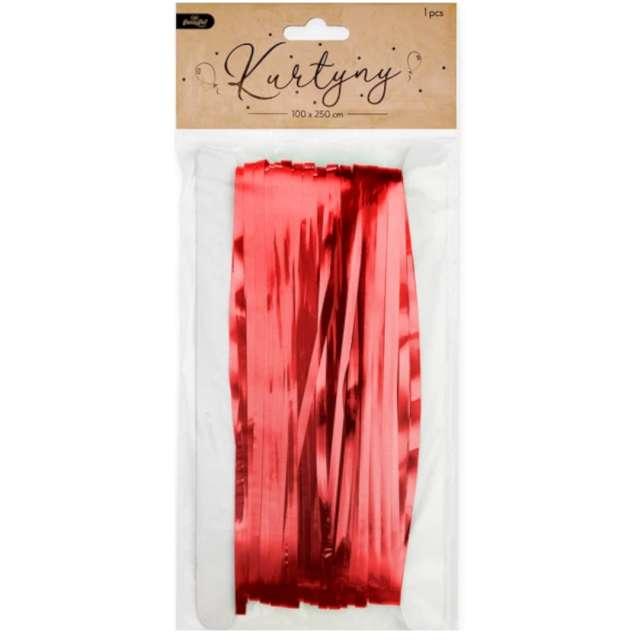 Kurtyna na drzwi Classic czerwona PartyPal 100 x 250 cm