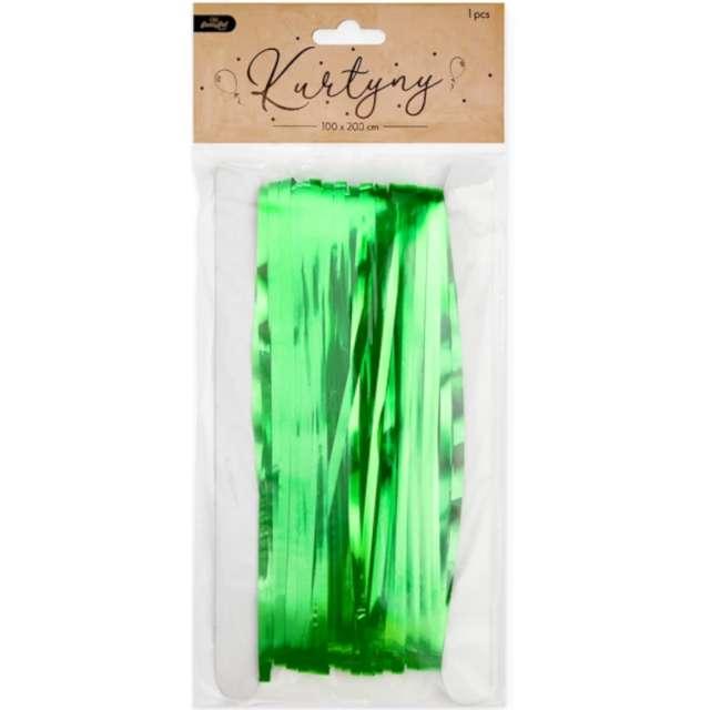 Kurtyna na drzwi Classic zielona PartyPal 100 x 200 cm