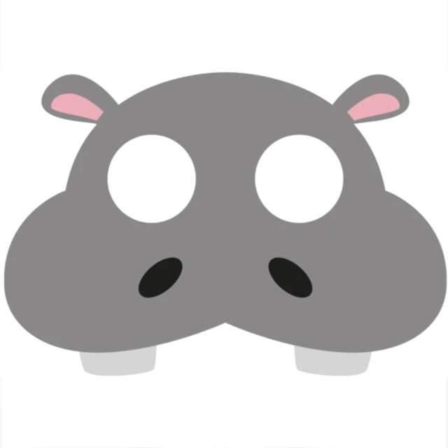 "Maska ""Hipopotam"", filcowa, PartyPal"